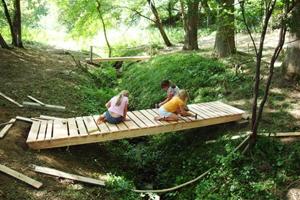 Brückenbau im Sommer 2008
